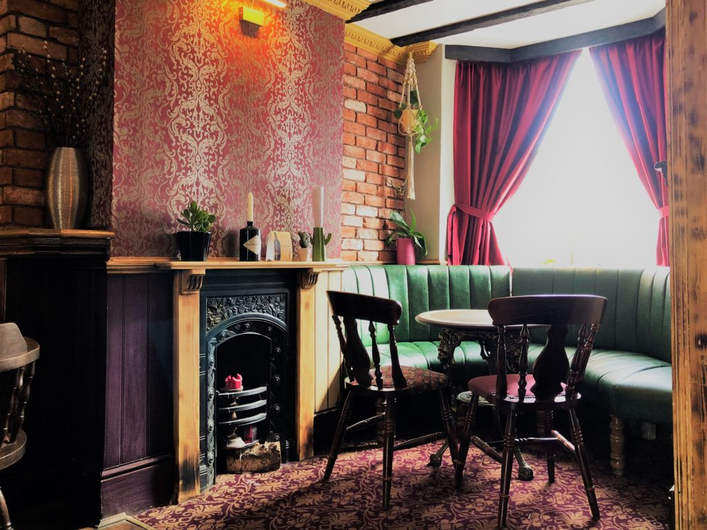 bar seating and fireplace builders arms pub new barnet